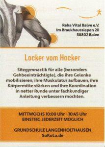 Locker vom Hocker - Sitzgymnastik - Sokola.de